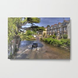 Sidmouth River Crossing  Metal Print