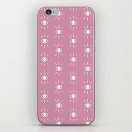 Eye pattern in pink iPhone Skin