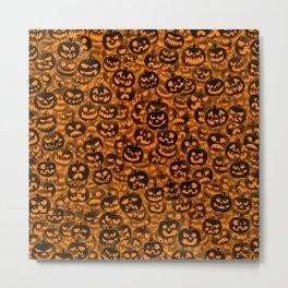 Scary pumpkins Metal Print