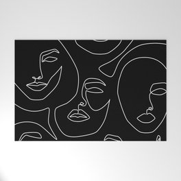 Faces in Dark Welcome Mat