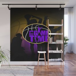 It's Game Time - Purple & Gold Wall Mural