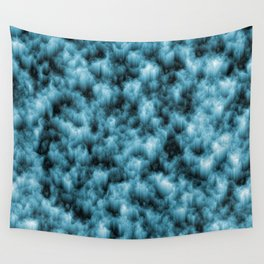 Blue Crystals Wall Tapestry