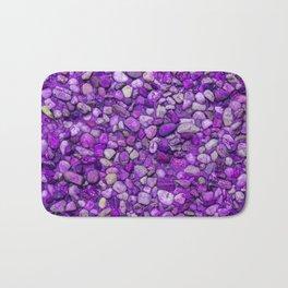 Background Texture Ultraviolet Sea Pebbles Close-up Outdoors Bath Mat