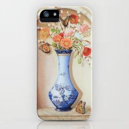 Blue Willow Niche iPhone Case