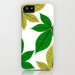 Horse Chestnut Leaves iPhone Case