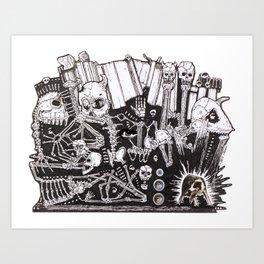Electric Boneyard Art Print