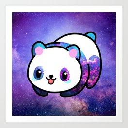 Kawaii Galactic Mighty Panda Art Print