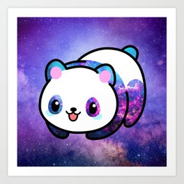 Kawaii Galactic Mighty Panda Kunstdrucke