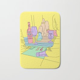 drink and drink Bath Mat