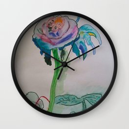 Flower inspiration modern paintings by Christian T. Wall Clock