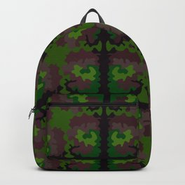 Quilted Camouflage Traditional Backpack