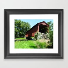 A Bridge in the Country Framed Art Print