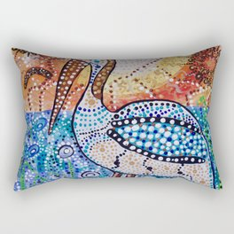 Boorun the Pelican Here Is My Country- Creation and Country Rectangular Pillow