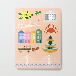 Charleston Art Print Metal Print