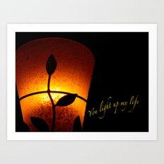 VALENTINE - YOU LIGHT UP MY LIFE Art Print