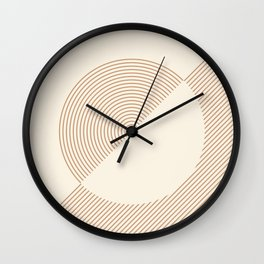 Geometric lines in Shades of Coffee and Latte 5 (Sunrise and Sunset) Wall Clock