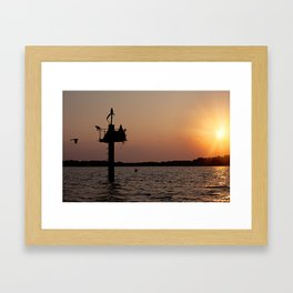 Sunset on the Chesapeake Framed Art Print