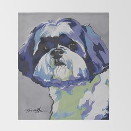 Ringo the Shih Tzu Throw Blanket