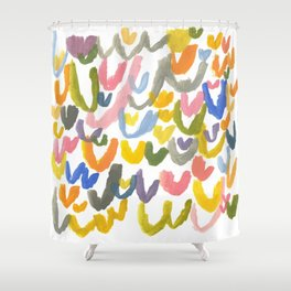 Abstract Letterforms 1 Shower Curtain