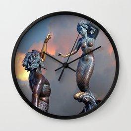 Triton and Nereida Wall Clock