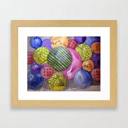 Zentangle Bubbles Framed Art Print