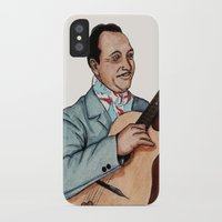 django iPhone & iPod Cases featuring Django Reinhardt by Daniel Cash