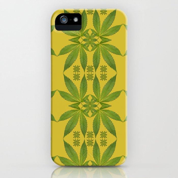 Marijuana Leaf Pattern iPhone Case