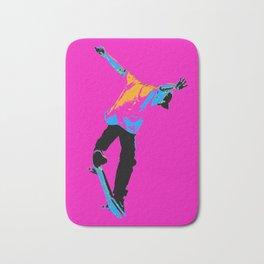 """Flipping the Deck"" Skateboarding Stunt Bath Mat"