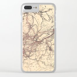 New York Central & Hudson River Railroad Map (1900) Clear iPhone Case