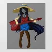 marceline Canvas Prints featuring Marceline  by Fishiebug