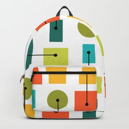 Atomic Age Simple Shapes Multicolored Backpack