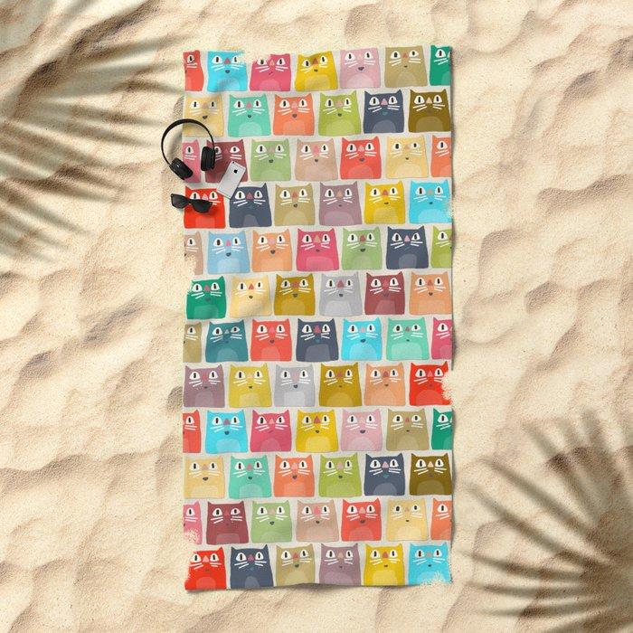 summer cats Beach Towel