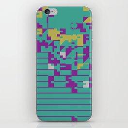 Abstract 8 Bit Art iPhone Skin