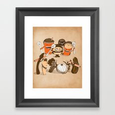 Food Fight Framed Art Print
