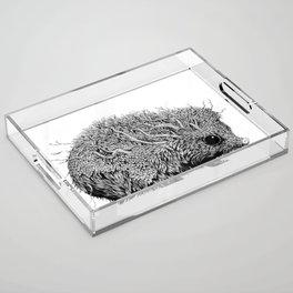 Leaf Hedgehog Acrylic Tray