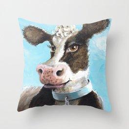 Mrs. Cow Throw Pillow