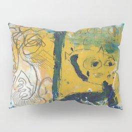 blue cat home Pillow Sham