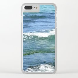 Gradient Sea Colors Clear iPhone Case
