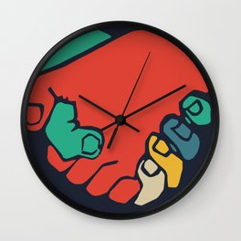 It don't matter if you're black or white Wall Clock