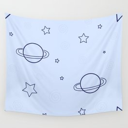 Simple space pattern Wall Tapestry