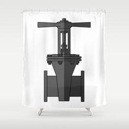 Gate valve in beautiful design Fashion Modern Style Shower Curtain