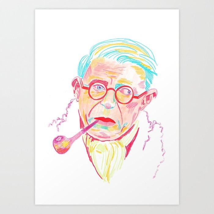Sartre Art Print