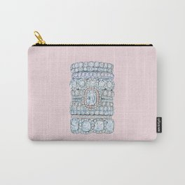 Diemond Rings on Light Pink Carry-All Pouch