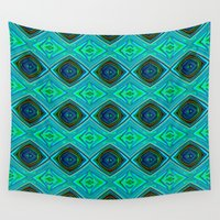 aqua Wall Tapestries featuring Aqua by gretzky