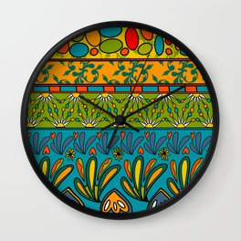 Fete du paisley estival original Wall Clock