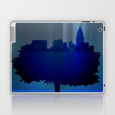 Point of view on the city blue Laptop & iPad Skin