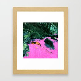 WOMAN IN PINK WATER Framed Art Print