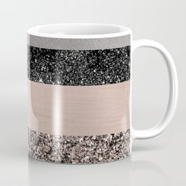 Blush Glitter Glam Stripes #1 #shiny #decor #art #society6 Coffee Mug