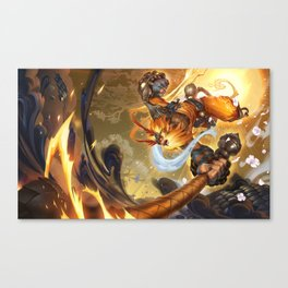 Radiant Wukong League Of Legends Canvas Print