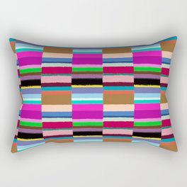 Tribal Stripe Kilim in Multi Rectangular Pillow